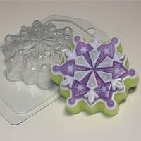 Пластиковая форма Снежинка №6