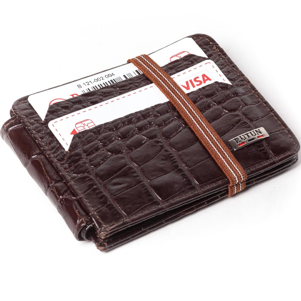 a4129b8d645f Кошелек кардхолдер кожаный коричневый Butun 121-002-004 - Интернет магазин