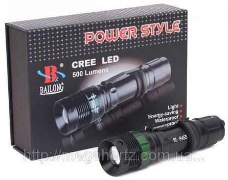 Тактический фонарик Police 3000w с линзой BL 8455