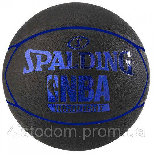 Баскетбольный мяч Spalding NBA Black Blue Highlight