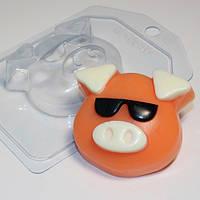 Пластиковая форма Хрюшка-мордашка/В очках