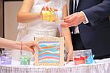 Бірюзовий кольоровий пісок для пісочної церемонії і аннимаций. Кольоровий пісок. 250 грам, фото 8