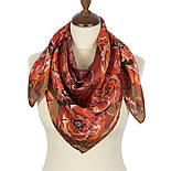 Платок шелковый (атлас) 10153-5, павлопосадский платок (атласный) шелковый с подрубкой, фото 2