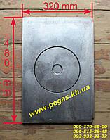 Плита чугунная (320х480 мм) печи, грубу, барбекю, мангал, фото 1