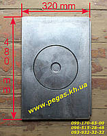 Плита чугунная (320х480 мм) печи, грубу, барбекю, мангал