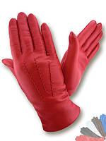 Женские перчатки из натуральной кожи на шерстяной подкладке модель 036