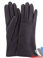 Женские перчатки из натуральной кожи на шерстяной подкладке модель 042