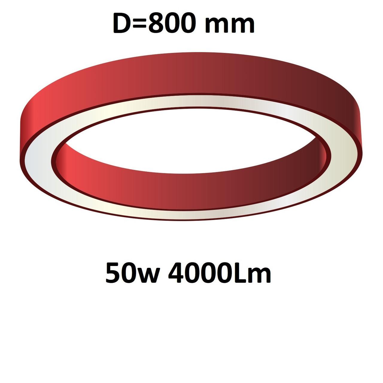 """Turman """"Кольцо 800"""" 50W 4000Lm фигурный светодиодный светильник"""