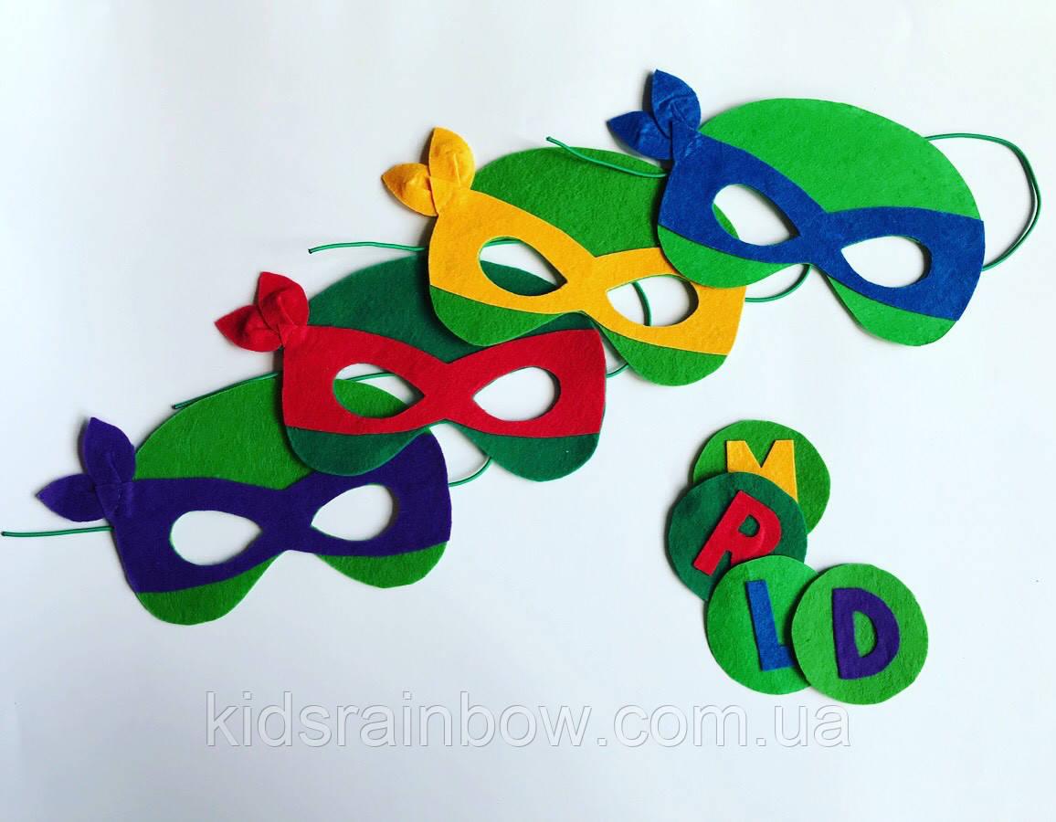 Набор: маска + медальен Черепашки ниндзя Рафаэль Микеланджело Донателло Леонардо