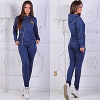 Женский спортивный костюм на косую змейку / двунитка / Украина 6-842, фото 1