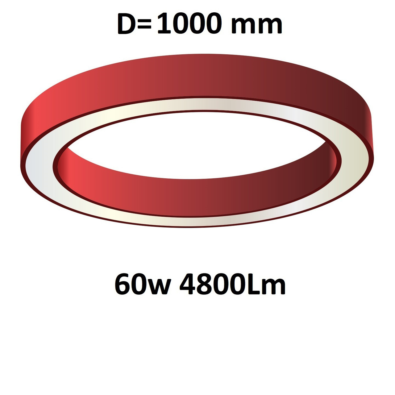 """Turman """"Кольцо 1000"""" 60W 4800Lm фигурный светодиодный светильник"""