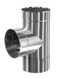 Дымоходный тройник 90гр.130мм толщина метала 1,0мм/430