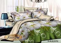 """Комплект постельного белья двуспальный, ранфорс, 3D """"Утренняя свежесть"""""""