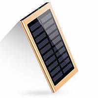 УМБ Solar Power Bank 10 000 mAh со встроенной солнечной батареей Yellow (17-PBsolarY)