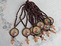 Вервица православные четки с иконкой