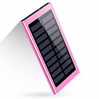 УМБ Solar Power Bank 10 000 mAh со встроенной солнечной батареей Pink (19-PBsolarP)