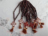 Православные деревянные четки с ликами Святых