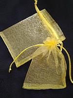 Мішечки органза 7 х 9 см, жовтий / лимон, 100 шт в уп. Пр-під Україна. Ціна за 1 шт, фото 1