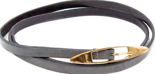 Модный женский кожаный узкий ремень ETERNO (ЭТЕРНО) A2005-9-grey
