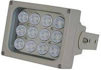 ИК LED прожектор Viatec S12D-15-A-IR, 240 метров