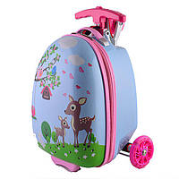 Самокат-чемодан StreetGo Kids Pink, фото 1
