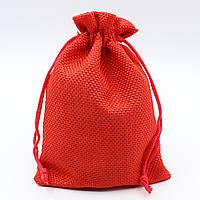 """Мешочек подарочный ткань большой """"Красный"""""""