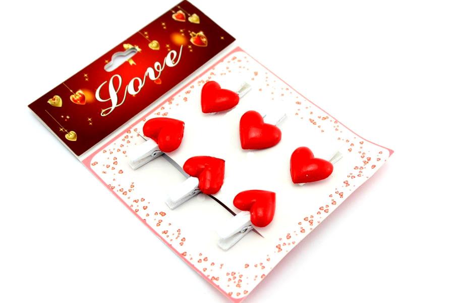Набор декоративных прищепок Сердце