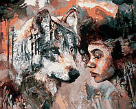 """Раскраска Антистресс для взрослых и детей """"Душа волка"""", 40 х 50 см , С Коробкой"""
