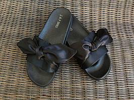Специальная акция!!! Шлепанцы с бантами 36р (на 35р 22,5 см-23 см ) шлепки Венгрия