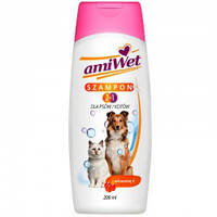Amiwet шампунь-кондиционер для собак и кошек с витамином Е 200 мл
