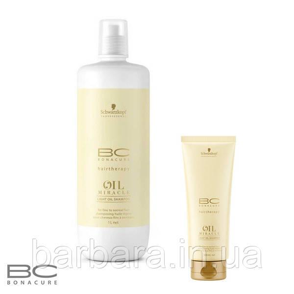 Шампунь для тонкого волосся Schwarzkopf Bonacure Oil Miracle