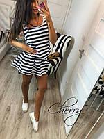 Платье - туника в полоску / вискоза / Украина 28-190, фото 1