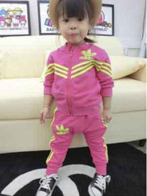 Спортивный костюм для девочек Adidas розовый 74 р