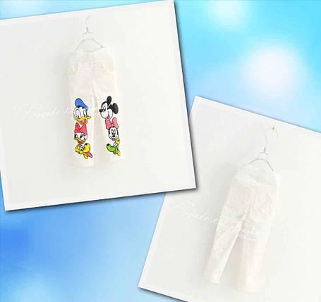 Джегинсы для девочек с рисунком Donald and Mickey белые, фото 2