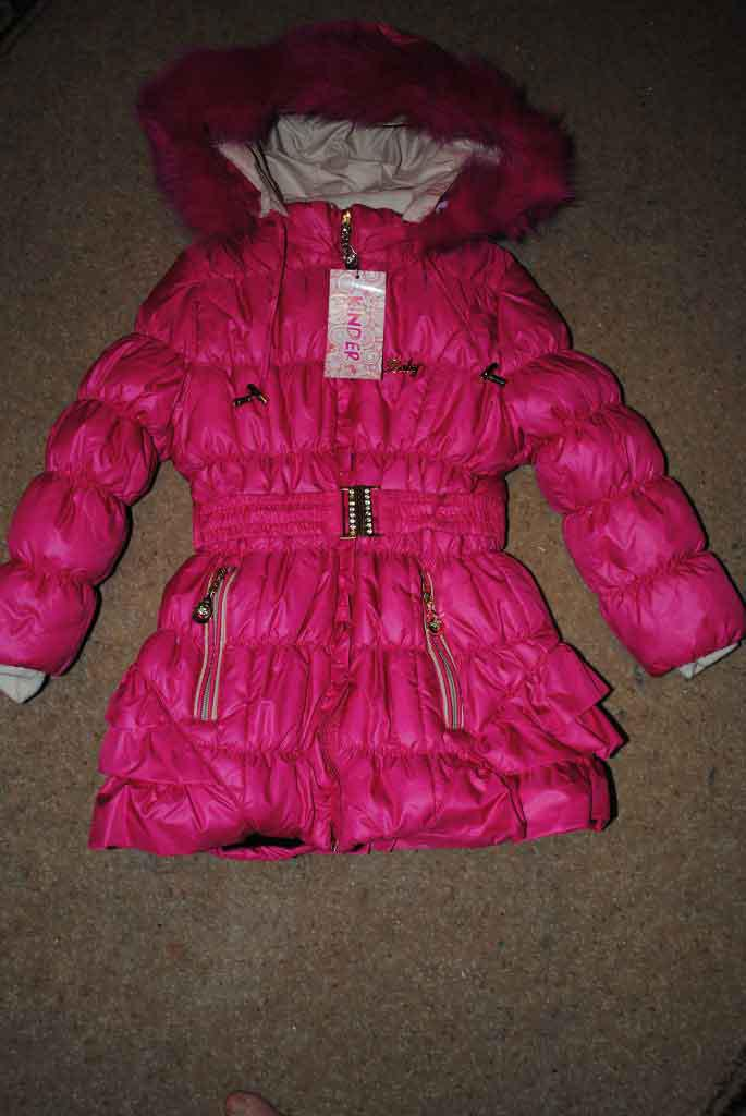 Пальто зимнее для девочек розовое