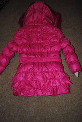 Пальто зимнее для девочек розовое, фото 2