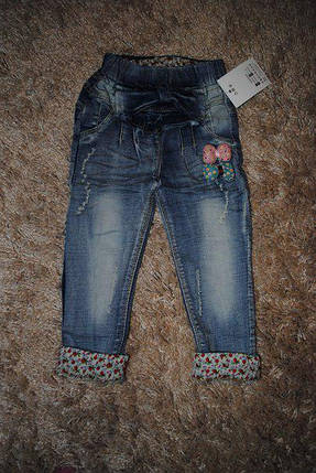 Джинсы для девочек серые   на 1 год, фото 2