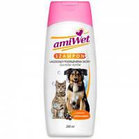 Amiwet успокаивающий шампунь для кожи собак и кошек 200мл