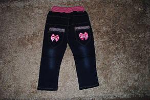Джинсы для девочек темно-синие весна 6023, фото 2