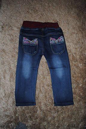 Джинсы для девочек темно-синие весна 6026, фото 2