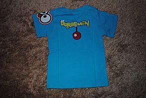 Футболка для мальчиков синяя 6058, фото 2