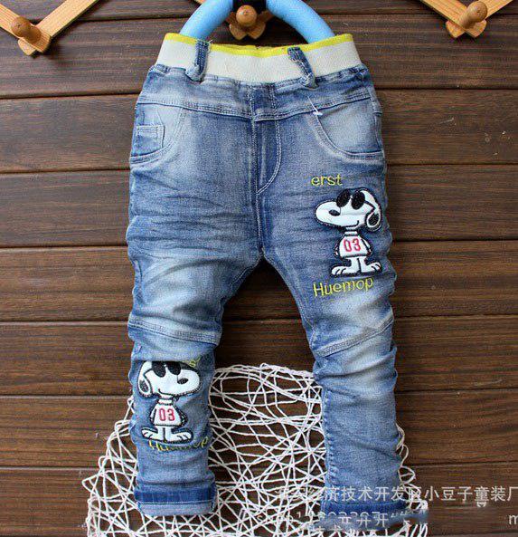 Джинсы для мальчиков синие Doggy 6151
