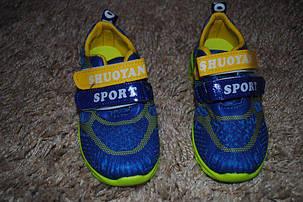 Кроссовки детские салатовые с синим Sport 6272, фото 2