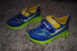 Кроссовки детские салатовые с синим Sport 6272, фото 3