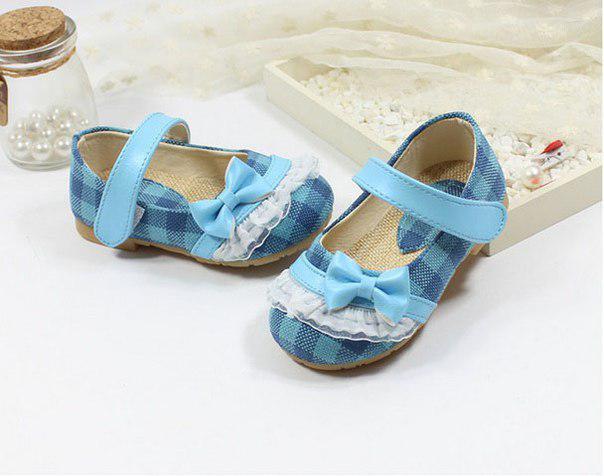 Туфли детские голубые 6343