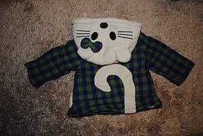 Курточка детская на девочку демисезонная  черно-белая  6907, фото 2