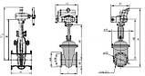 Засувка сталева 30с941нж Ду300 Ру16 під електропривод, фото 5