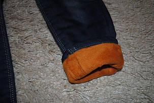 Джинсы для девочек утепленные синие 7128, фото 2