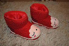 Ботинки детские на меху  красные 7031, фото 3