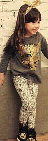 Костюм леопарбовый для девочек 7334